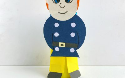Toilet Paper Roll Fireman Craft