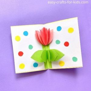 tulip pop up card for mother's day