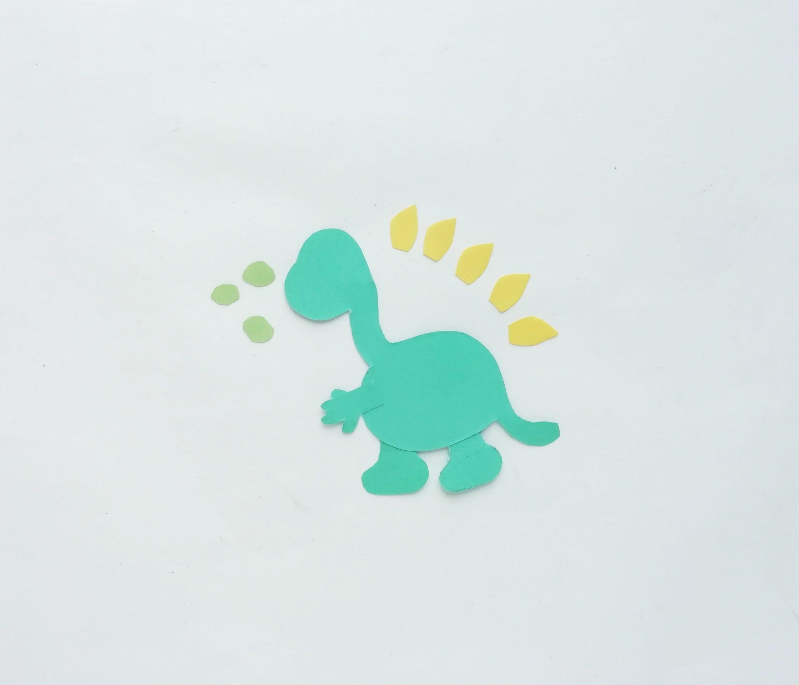dinosaur pop up card step by step process