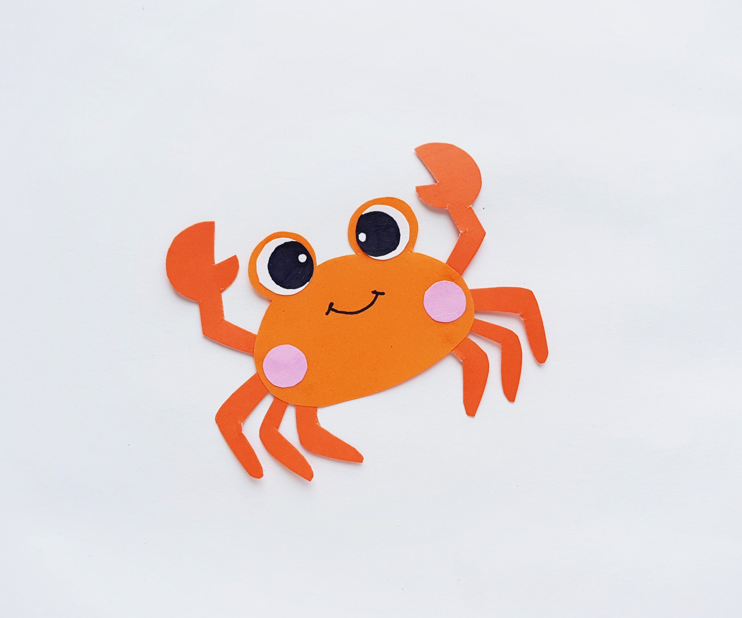 crab paper craft step by step