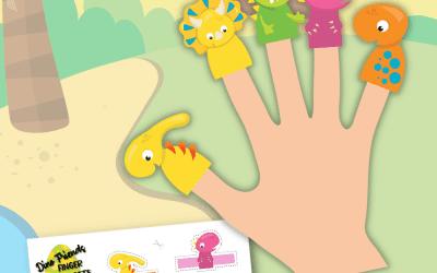 dinosaur finger puppets printable