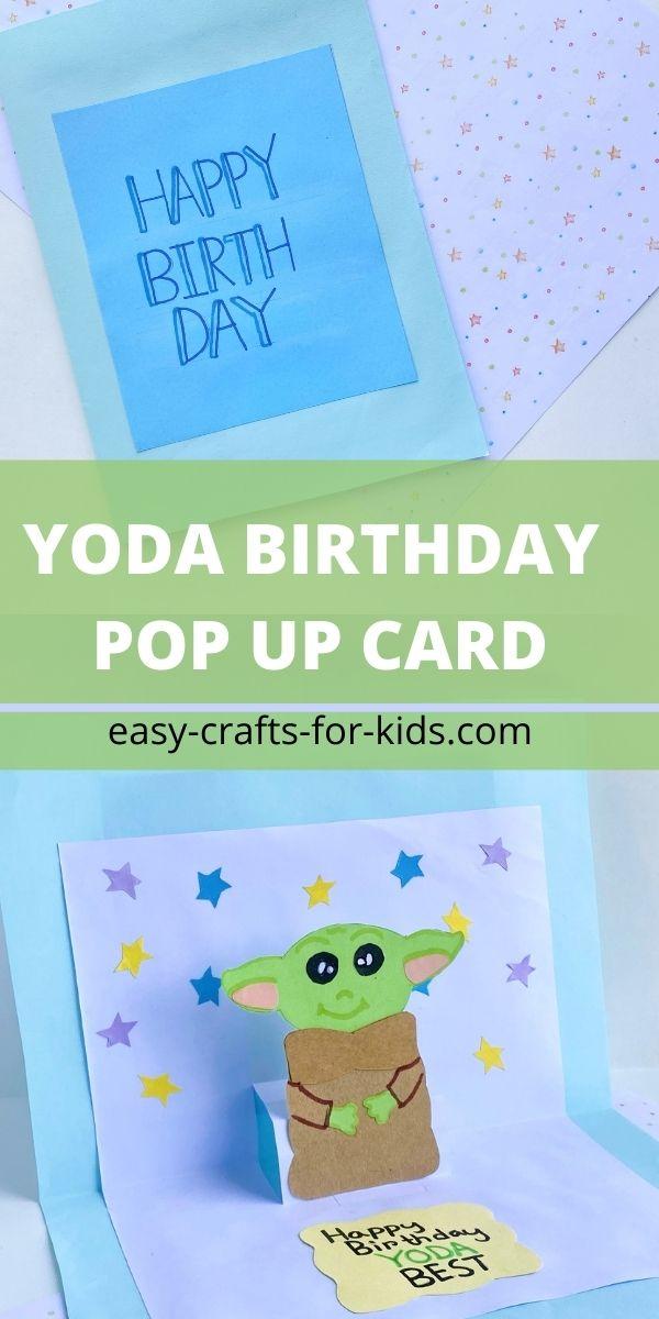How to Make Yoda Pop Up Birthday Card