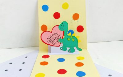 dinosaur pop up card for Father's Day