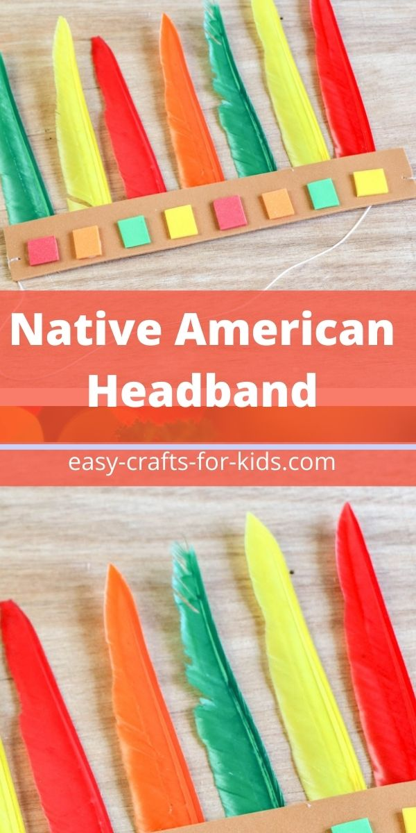 Native American Headband Craft with Feathers