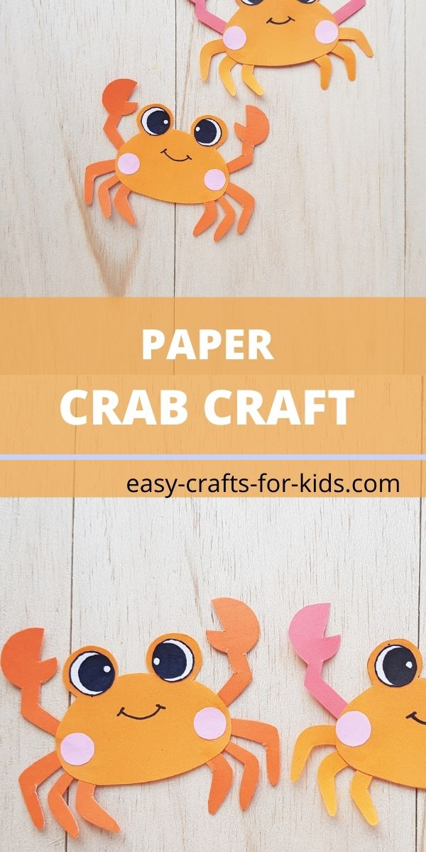 Paper crab craft for kids