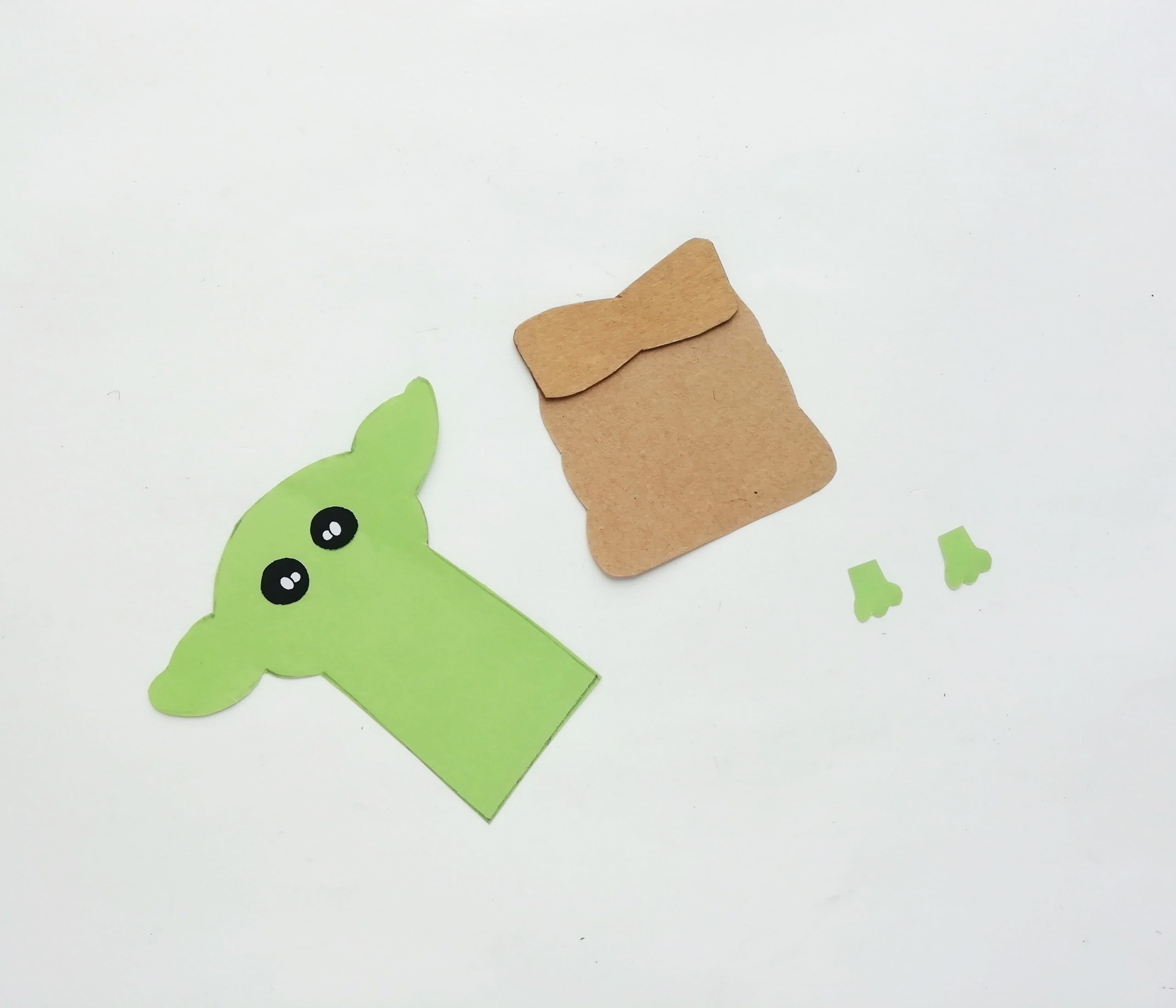 paper yoda craft for pop up card