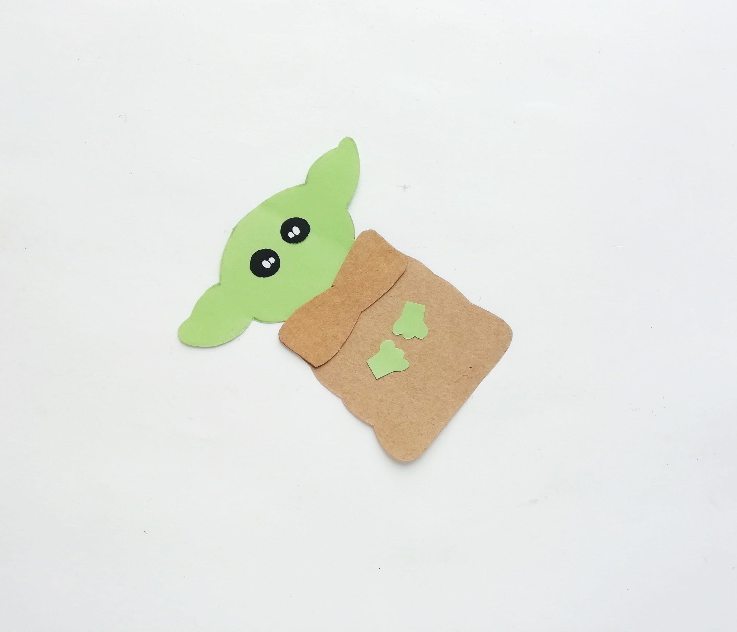 Yoda pop up card diy process