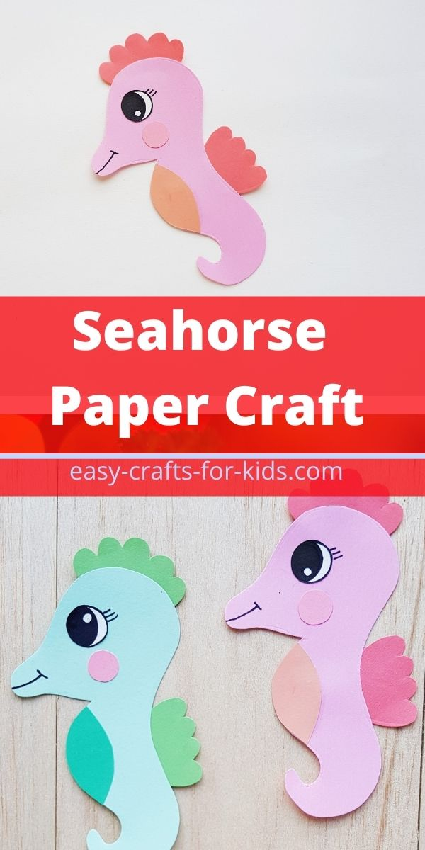 Seahorse Craft With Paper