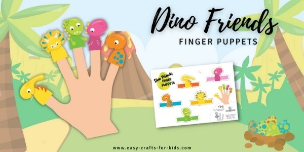 diy dino finger puppets printable
