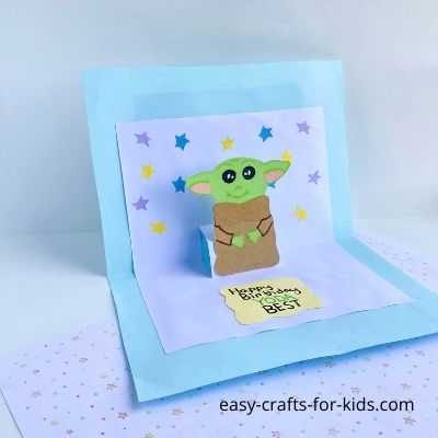 yoda pop up card diy