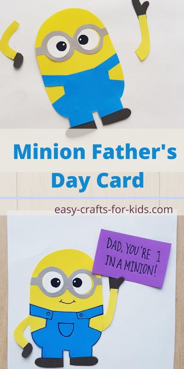 How to Make a Minion Father's Day Card