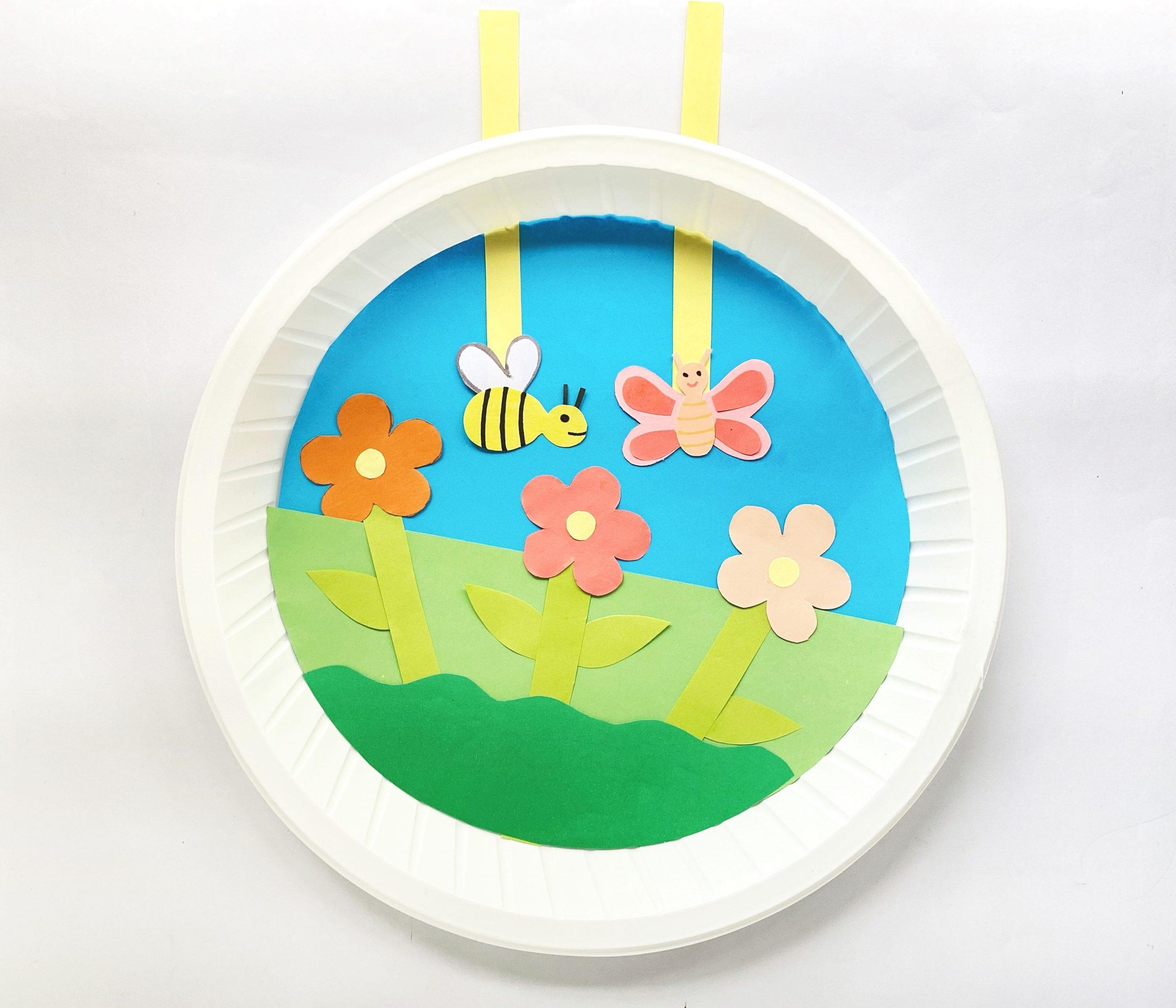 summer garden paper plate craft for kids