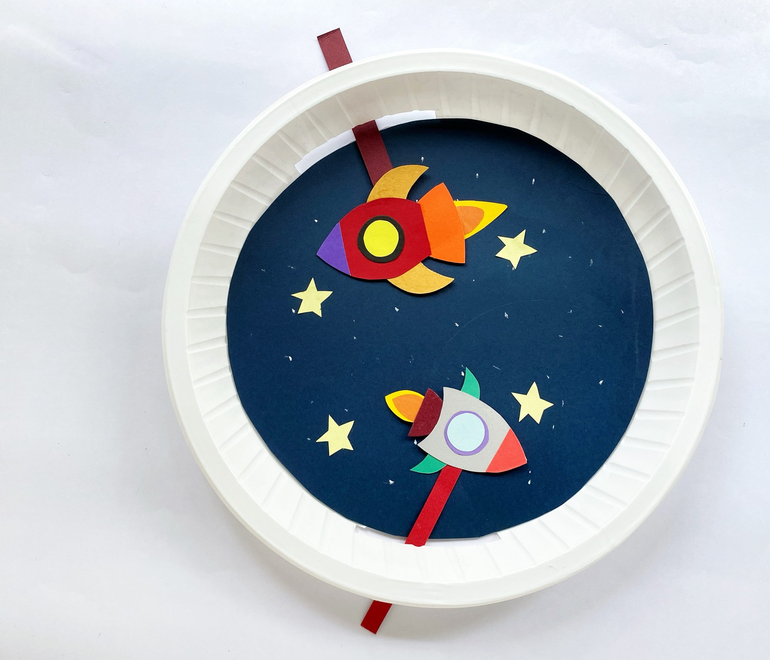 outer space paper plate craft procedure