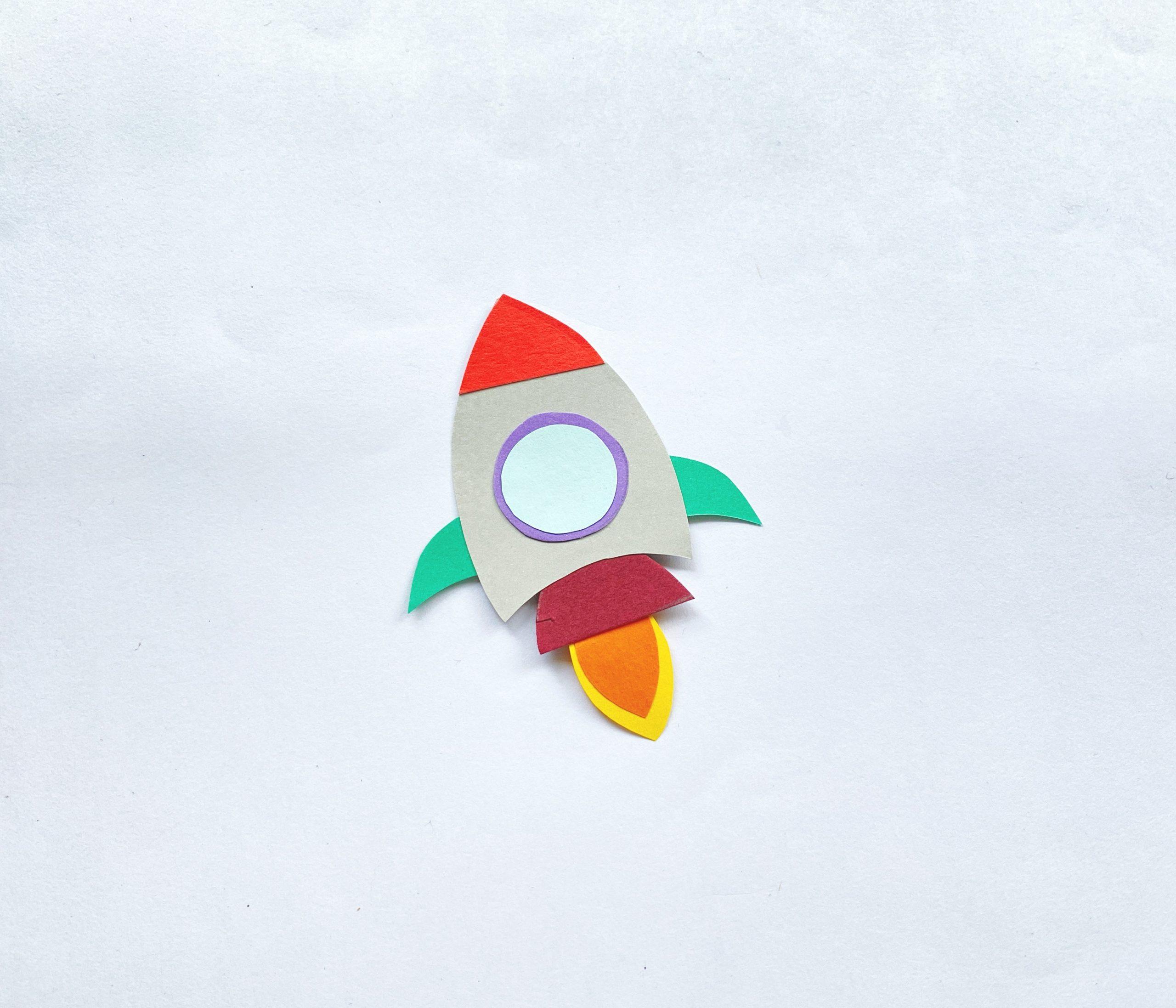 paper rocket craft process