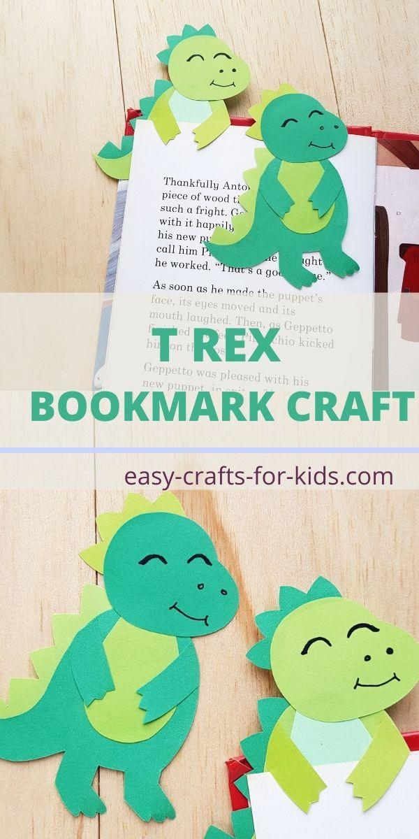 T REX BOOKMARK CRAFT