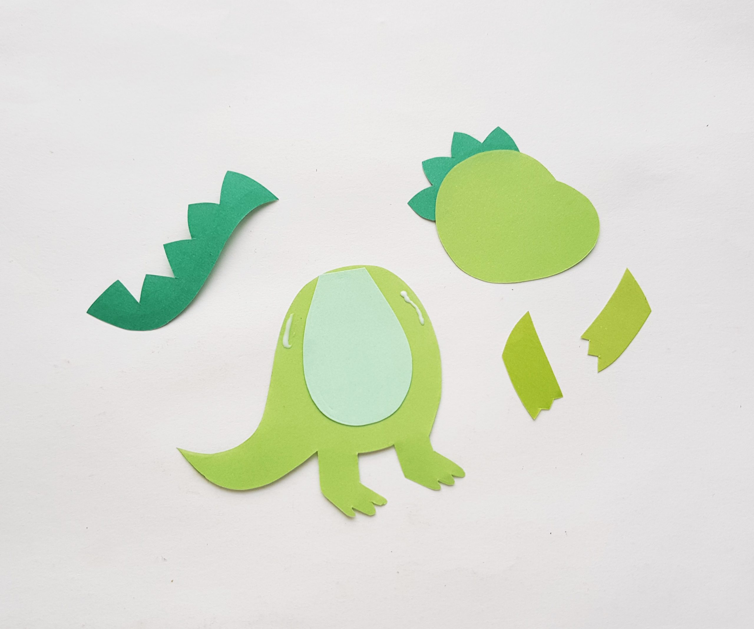 how to make a t rex bookmark