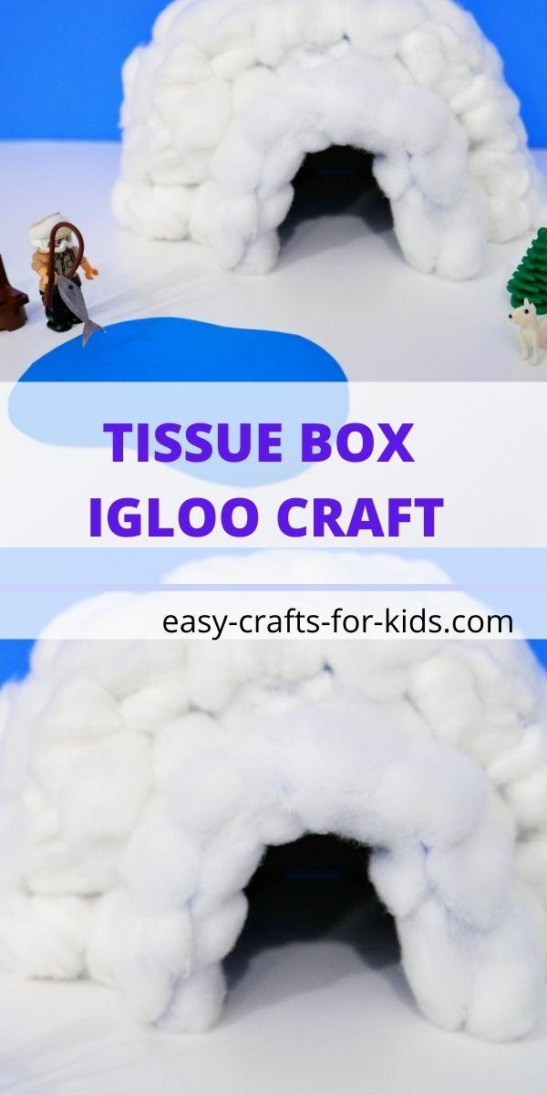 Tissue Box Igloo Craft