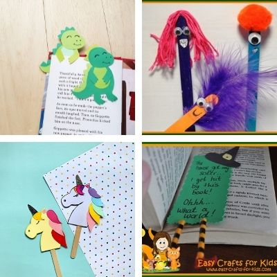 easy bookmark crafts for kids