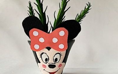 minnie clay pot craft