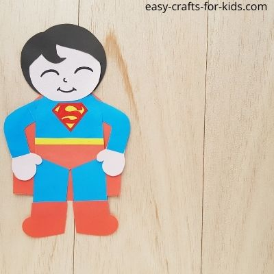 superman craft with paper