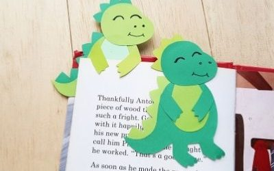t rex dinosaur bookmark craft