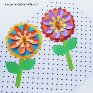 Easy paper flower craft