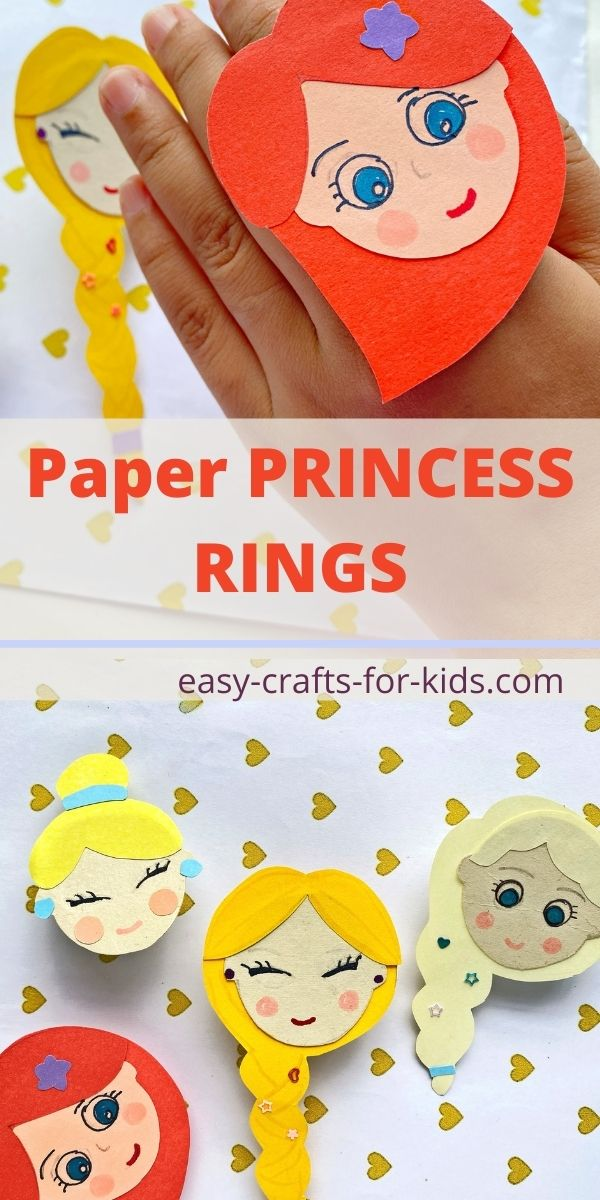 How to Make Paper Princess Rings