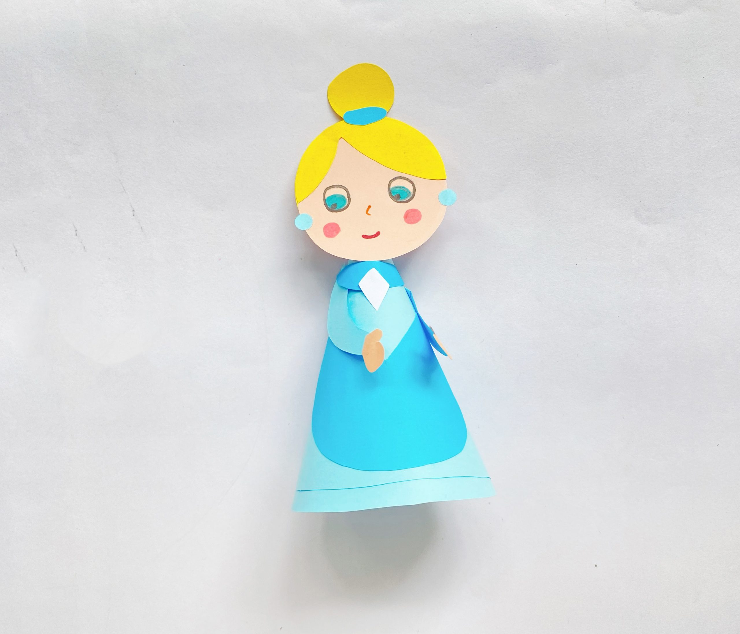 princess paper cone craft for kids