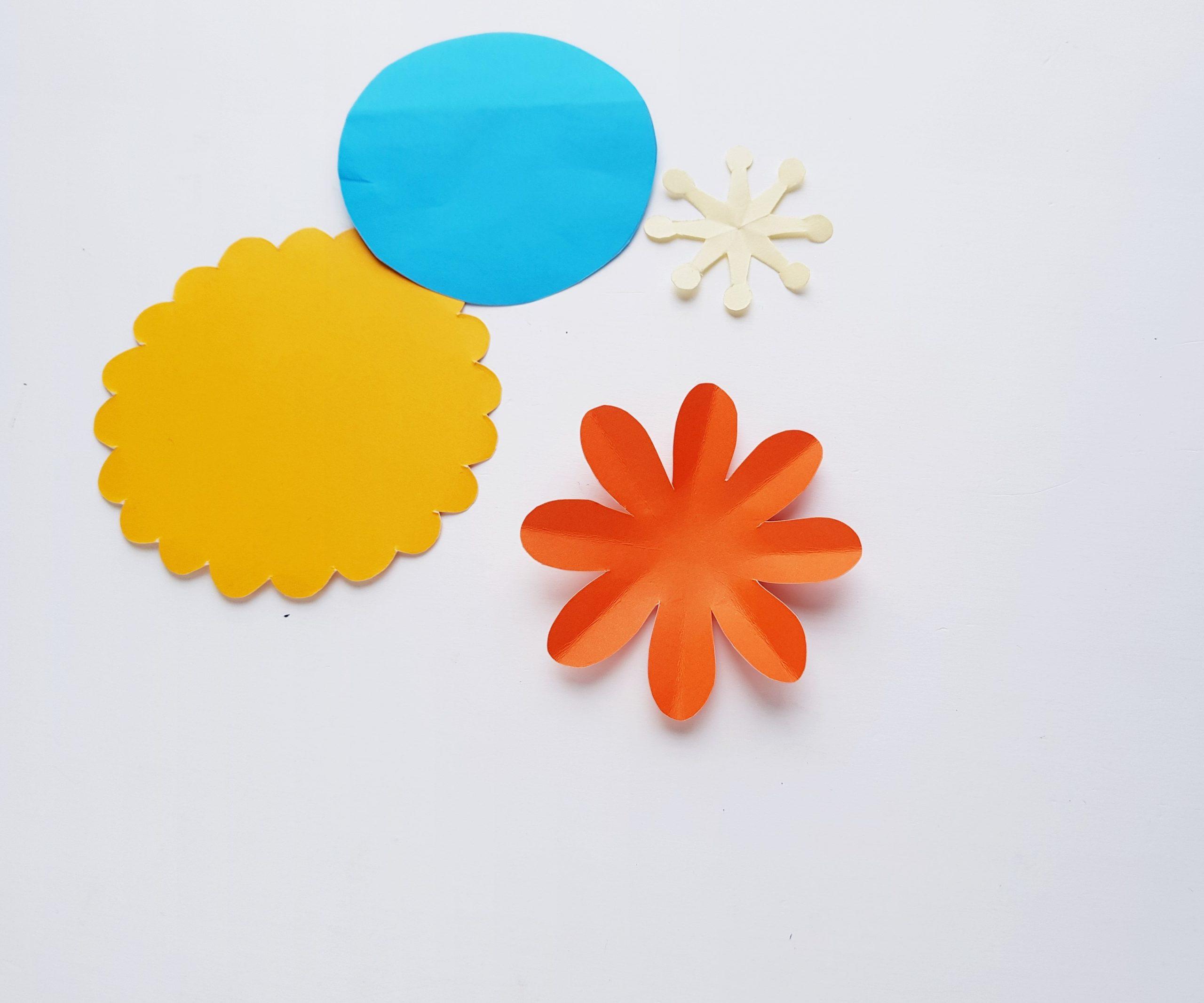 easy paper flower craft procedure