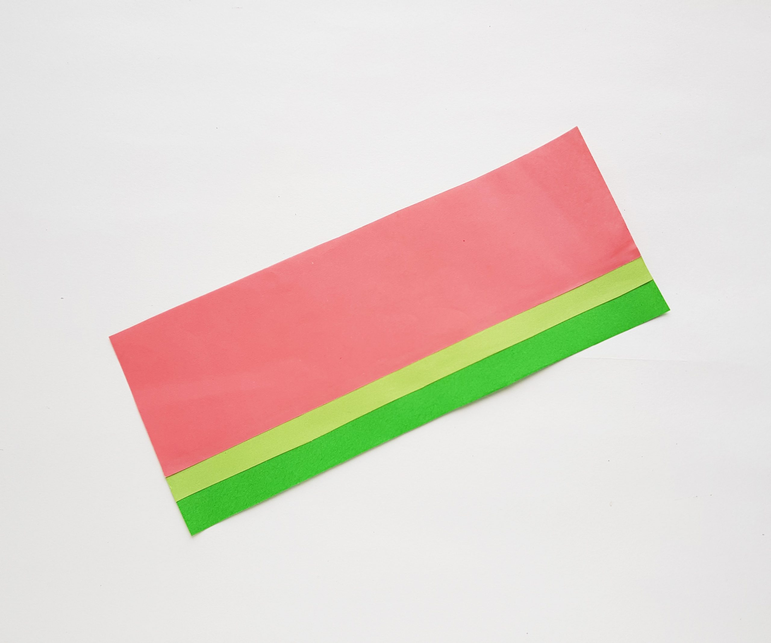 watermelon fan step by step craft with paper and scissors