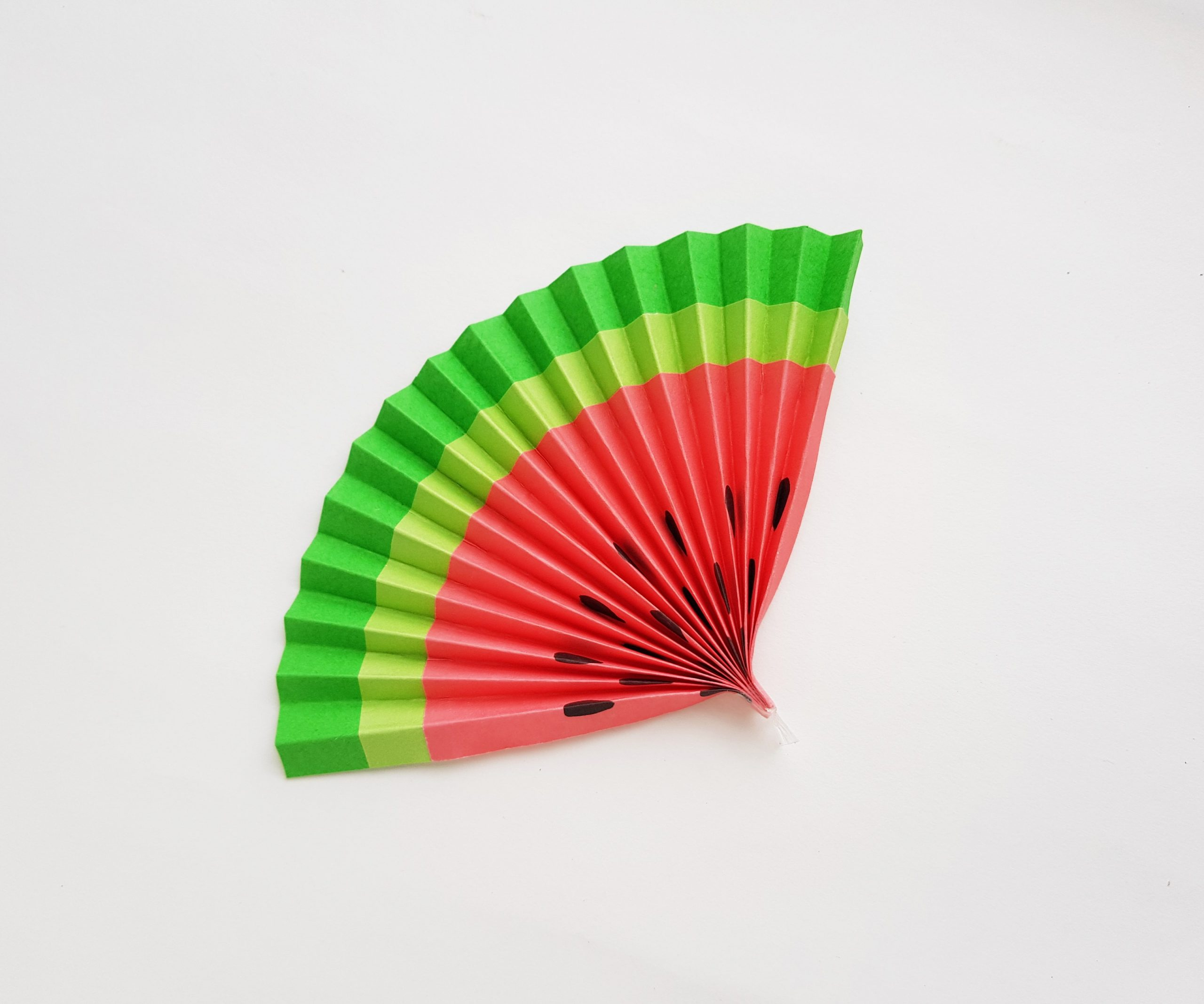 watermelon paper fan craft procedure