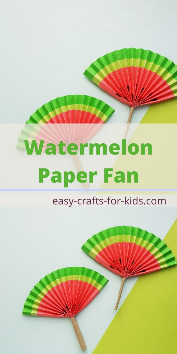 Watermelon Fan Craft with Paper