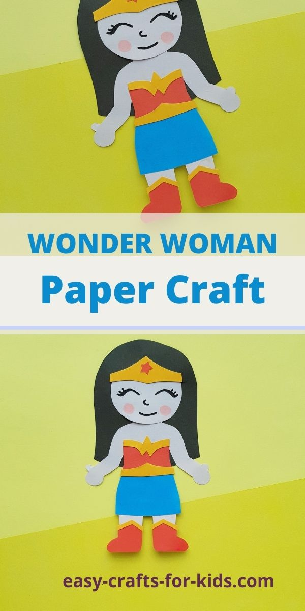 Wonder Woman Craft With Paper