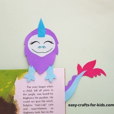how to make a dragon bookmark