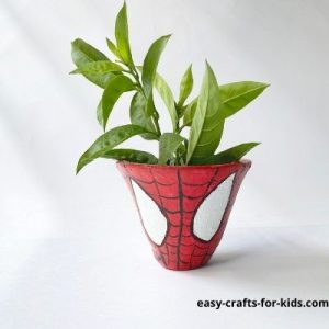 how to paint spiderman on a pot