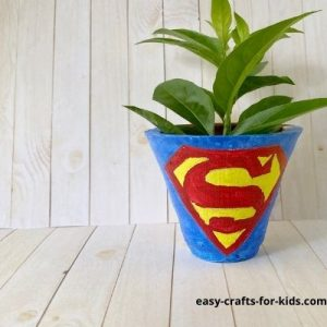 how to paint superman on a pot