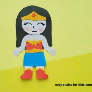wonder woman crafts for kids