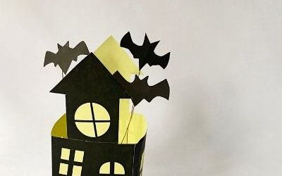 3d haunted house craft for kids