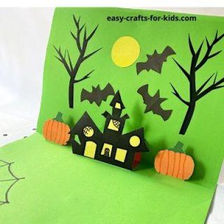 3d pop up card for Halloween