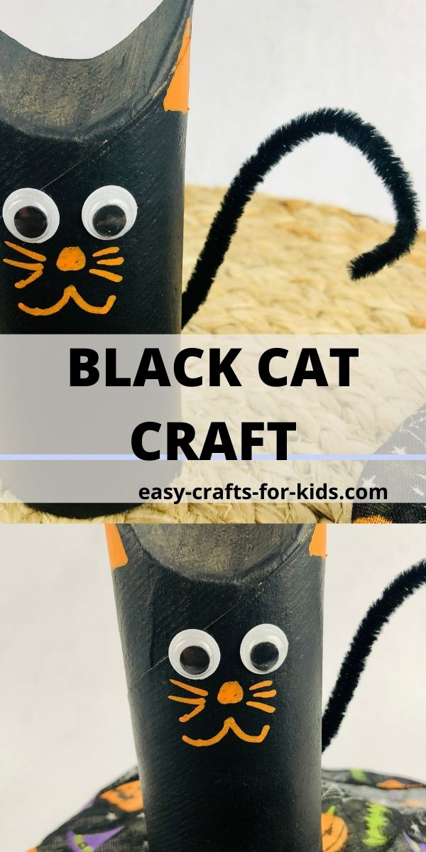 Halloween Cat Craft with Toilet Paper Roll