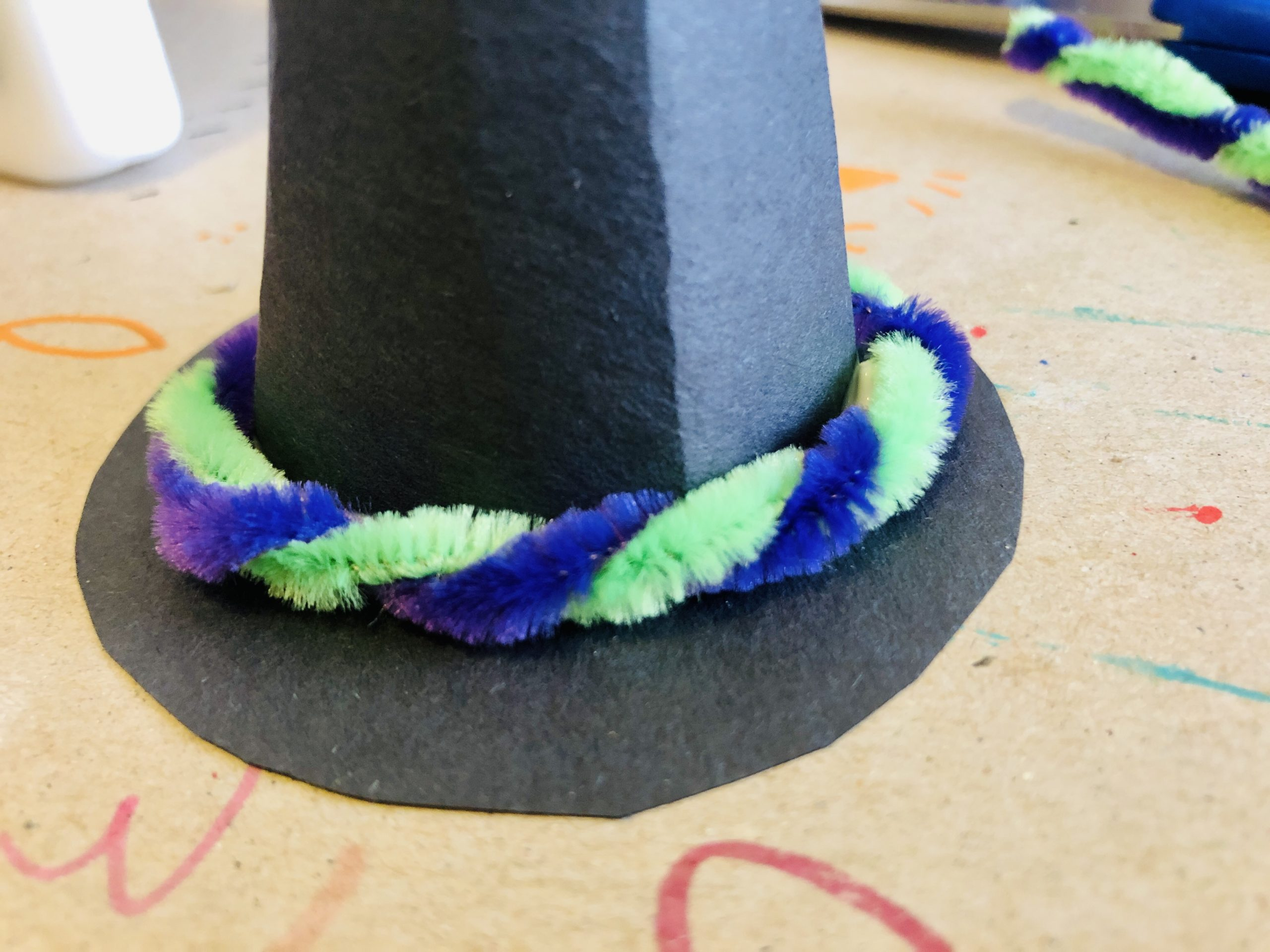 how to make paper witch hat