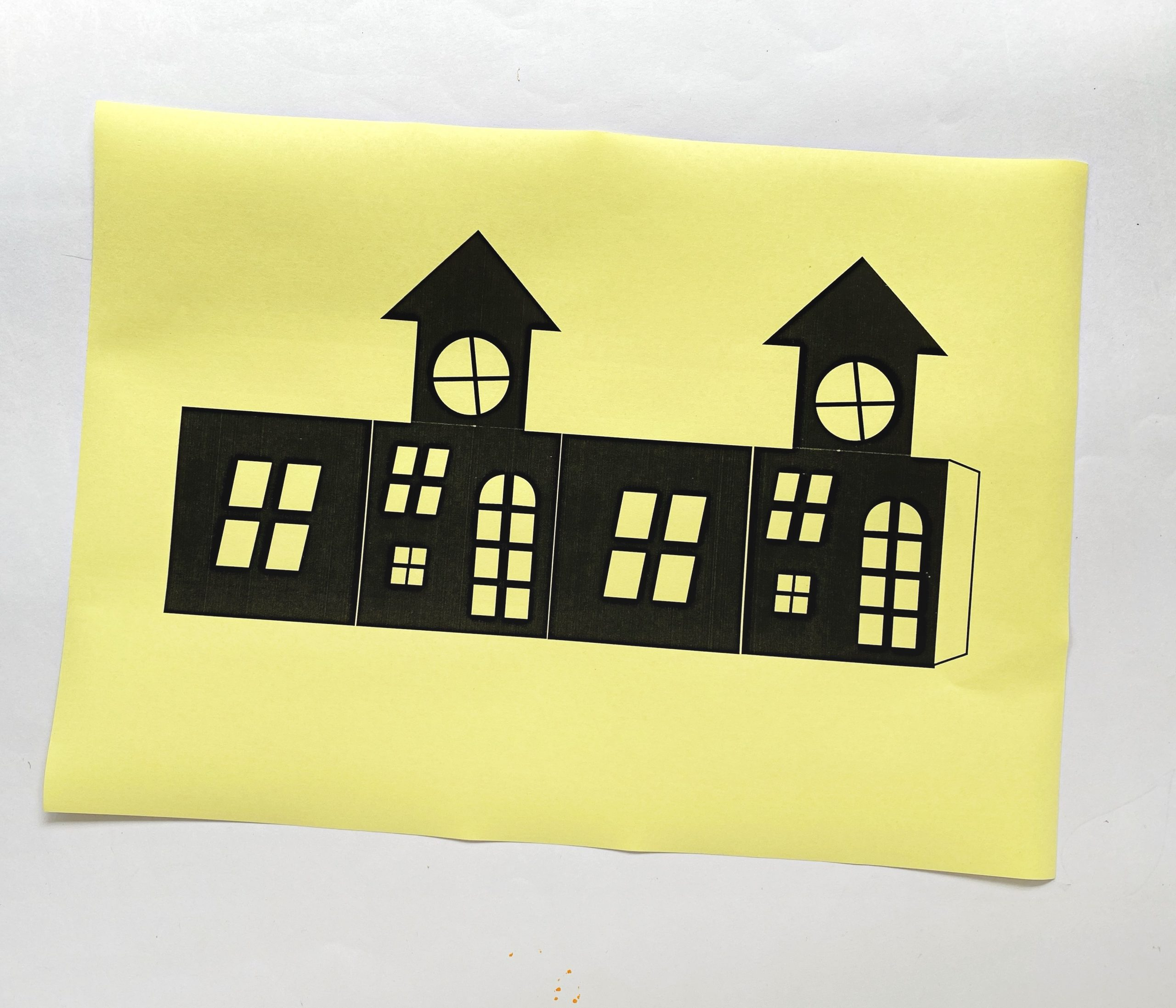 haunted house craft template