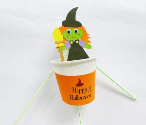 halloween witch cup craft