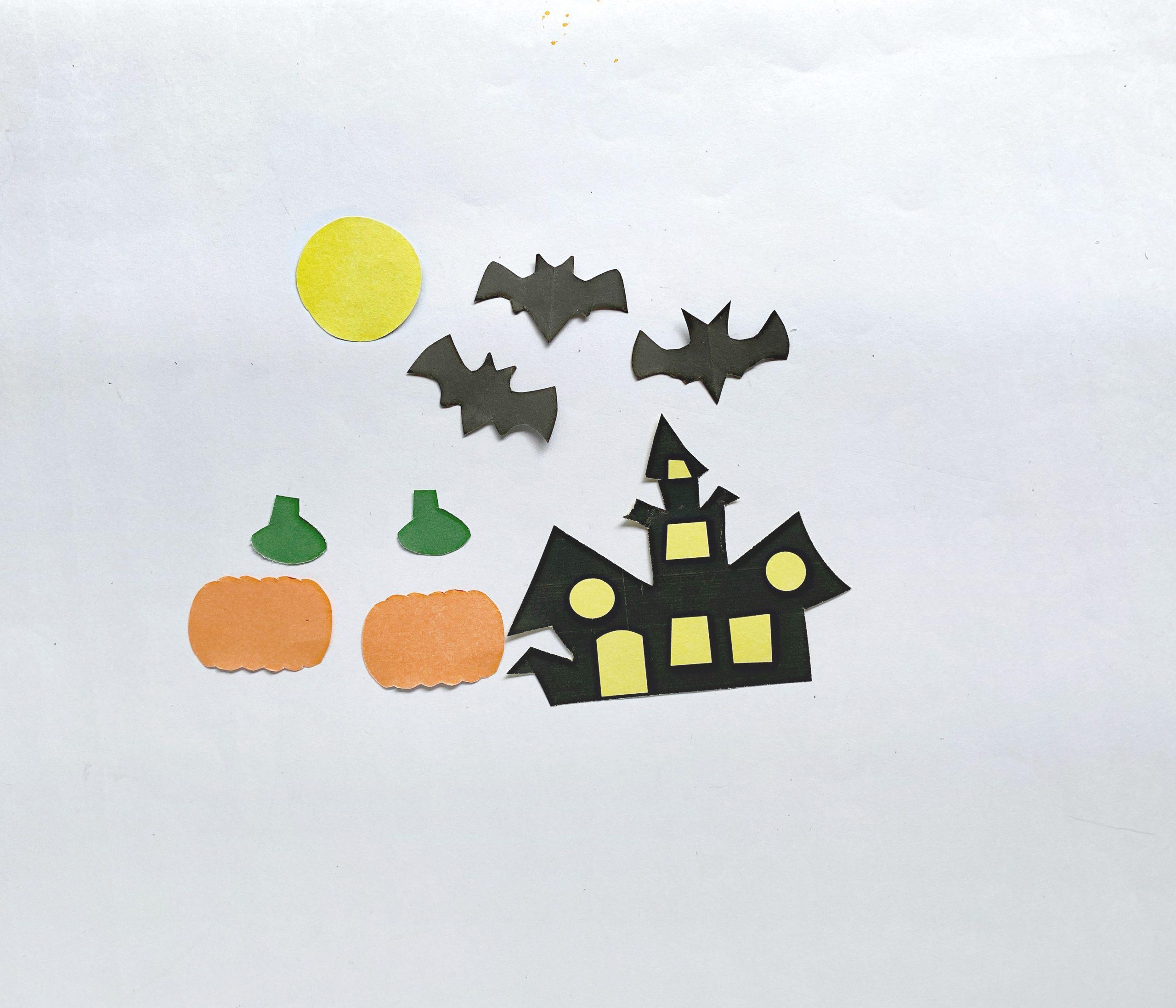 3d halloween pop up card supplies