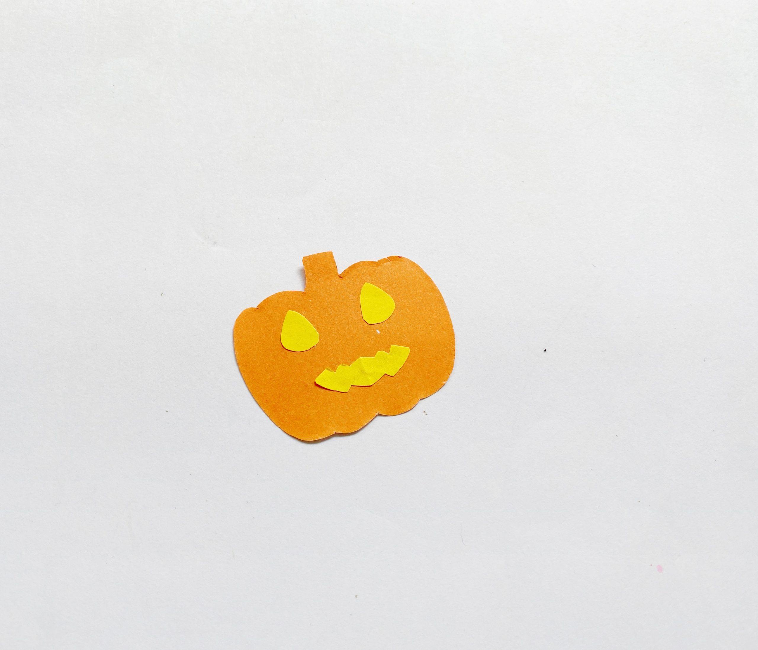 easy paper Jack O Lantern