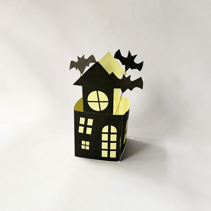 how to make a haunted house luminary craft
