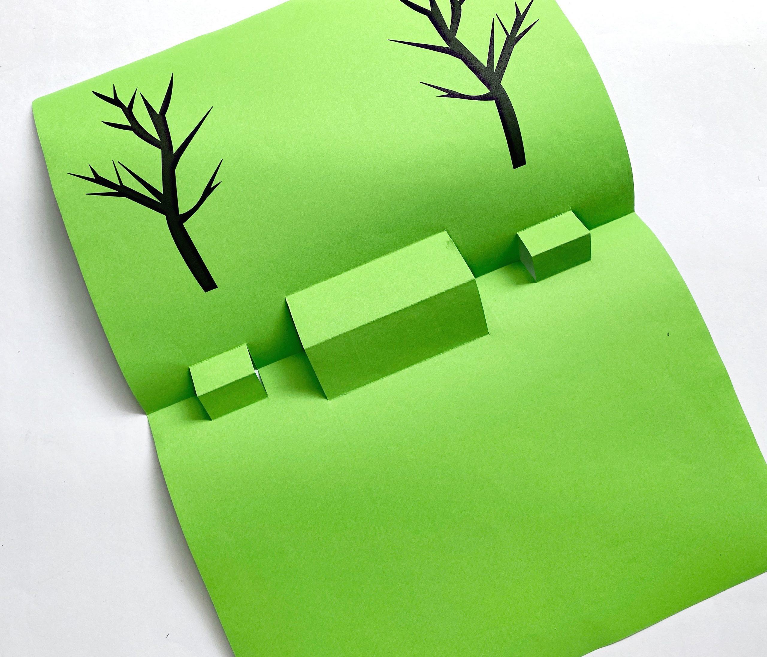 inside of halloween pop up card craft