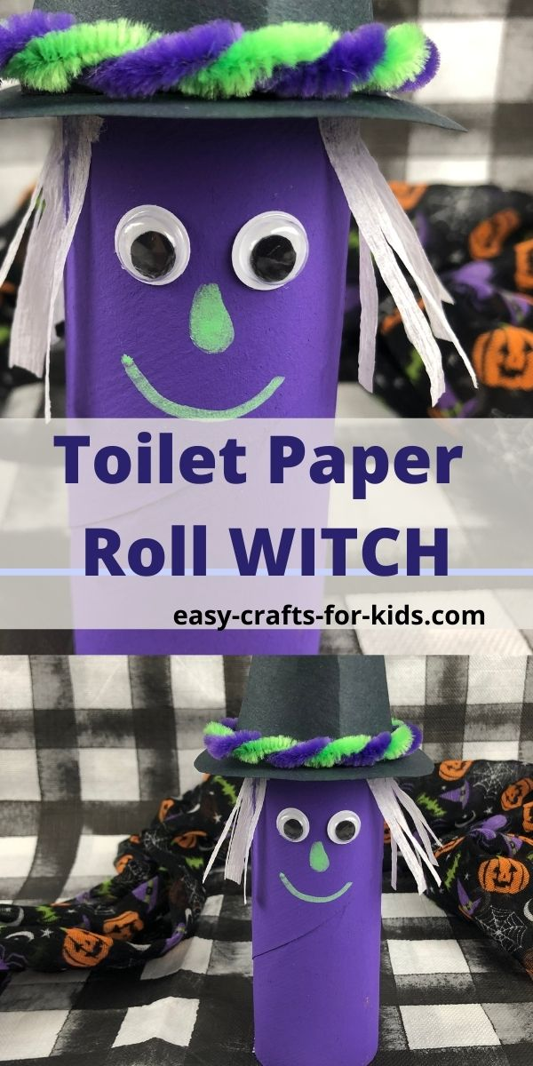 Toilet Paper Roll Witch
