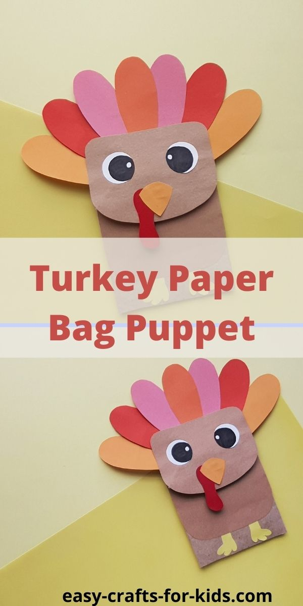 Turkey Puppet From Paper Bag