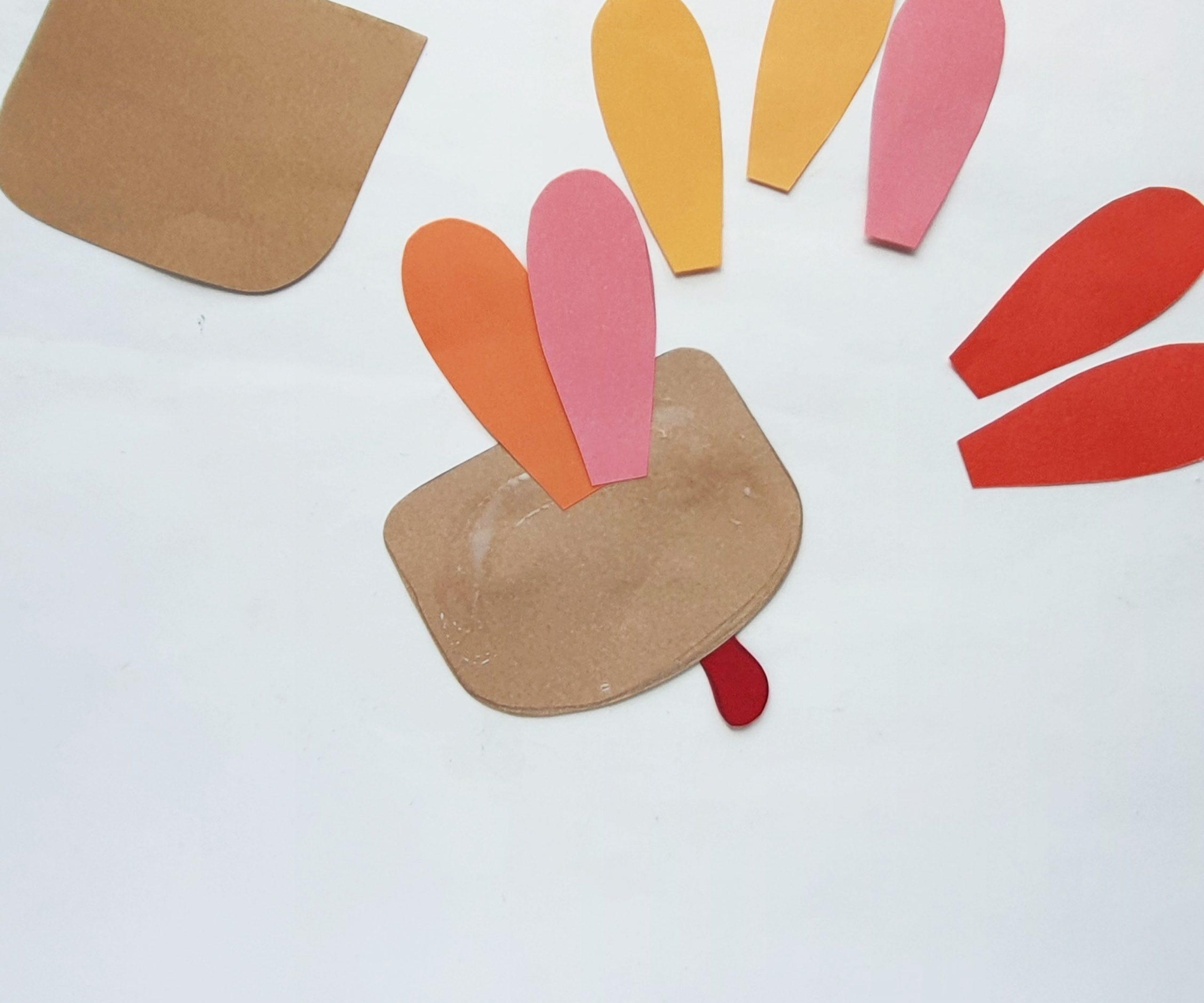 diy turkey paper bag puppet for kids